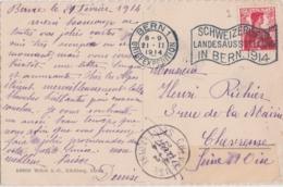 Bg - Cachet BERN 1 Briefexpedition - Schweizerische Landesausstellung In BERN 1914 Sur Carte Postale - Storia Postale