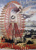 Travel Postcard Grand Rue De Paris 1890s (v) - Reproduction - Pubblicitari