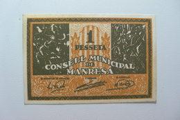 BILLETE DE PUEBLO DE MANRESA DE 1 PESETA - [ 2] 1931-1936 : Repubblica