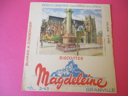 Buvard/Biscottes/MAGDELEINE/Monuments N°5/ Cathédrale De NANTES/370 Gr/GRANVILLE/Manche/NORMANDIE/Vers 1940-60  BUV404 - Zwieback