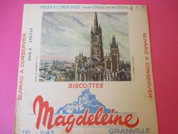 Buvard/Biscottes/MAGDELEINE/Monuments N°6/ Cathédrale De ROUEN/370 Gr/GRANVILLE/Manche/NORMANDIE/Vers 1940-60  BUV405 - Zwieback