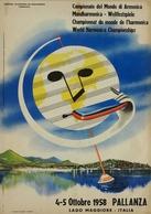 Travel Postcard World Harmonica Championships Pallanza Italia 1958 (v) - Reproduction - Pubblicitari