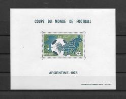MONACO BLOC SPECIAL N° 10 ** Neuf = MNH LUXE - RARE -Cote 575 € Sports Coupe Du Monde Football 1978 EN ARGENTINE - Blocs