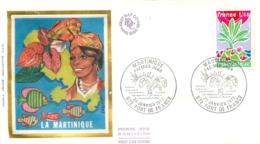 ENVELOPPE PREMIER JOUR  01/1977 LA MARTINIQUE - FDC