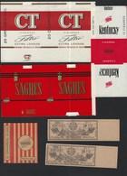 6 X Etiquetas Rotulos TABACO CIGARROS Kentucky, Sagres, CT, Provisorios. Lot Of 6 TOBACCO LABELS Portugal - Tabac (objets Liés)
