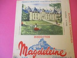 Buvard/Biscottes/MAGDELEINE/Monuments N°16/FLAMANVILLE Château/370 Gr/GRANVILLE/Manche/NORMANDIE/Vers 1940-60  BUV408 - Biscottes