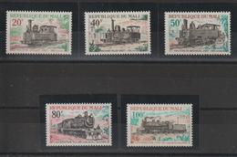 Mali 1970 Trains Série 142-146 5 Val ** MNH - Mali (1959-...)