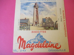 Buvard/Biscottes/MAGDELEINE/Monuments N°18/FERMANVILLE Le Phare/370 Gr/GRANVILLE/Manche/NORMANDIE/Vers 1940-60  BUV409 - Zwieback