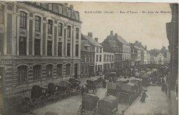 CPA - Jour De Marché Rue D'Ypres BAILLEUL 59 - France