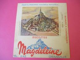 Buvard/Biscottes/MAGDELEINE/Monuments N°20/Mont SAINT MICHEL/370 Gr/GRANVILLE/Manche/NORMANDIE/Vers 1940-60  BUV410 - Biscottes