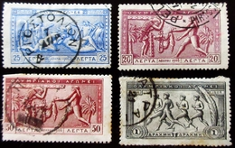 Grèce Jeux Olympiques 4 Valeurs Oblitérés Used - 1906 Deuxième Jeux Olympiques