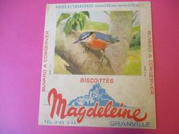 Buvard/Biscottes/MAGDELEINE/Passereaux N°4/Sittelle/370 Gr/GRANVILLE/Manche/NORMANDIE/Vers 1940-60  BUV411 - Zwieback