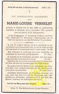 DP Marie L. Verhelst ° Geluwe Wervik 1866 † Beselare Zonnebeke 1938 - Images Religieuses