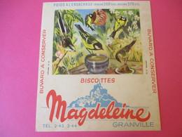 Buvard/Biscottes/MAGDELEINE/Passereaux N°14/Mésanges/370 Gr/GRANVILLE/Manche/NORMANDIE/Vers 1940-60  BUV412 - Zwieback