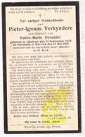 DP Pieter Ignaas Verkyndere ° Geluwe 1879 † Wervik 1933 X Emilie M. DeRudder - Images Religieuses