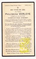 DP Philomena Verleye ° St.-Andries Brugge 1858 † Wenduine De Haan 1931 X Const. D'Hondt - Images Religieuses