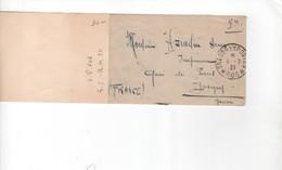 Guerre De 1914-18   Lettre Mignonnette-  Levant Français - Lettre En FM Du Secteur Postal 606 Pour Joigny(Yonne)5-7-21 - Guerre De 1914-18