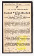 DP Gustaaf Vermeersch / Maertens ° Kortemark 1854 † Aartrijke Zedelgem 1935 - Images Religieuses