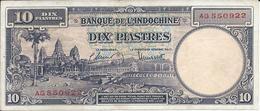 INDOCHINE  10 Piastres Nd(1947)  ** SUP ** - Indochina