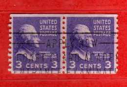 (Us2) USA °- 1938 - Série Courante, Présidents. T. Jefferson. 3 C. Yvert 372a.   USED.  Vedi Descrizione - Stati Uniti