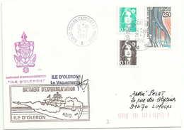 Manuel De 83800 Toulon Castigneau Marine - Batiment D'experimentation Ile D'Oléron - Marcophilie (Lettres)
