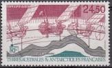 TAAF 1992 Yvert Poste Aérienne 123 Neuf ** Cote (2015) 11.70 Euro Satellite Topex Poseidon - Poste Aérienne