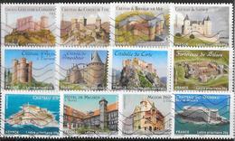 2012- Chateaux/ Demeures Historiques -YT 714 à 725(12val.)-OBL - France