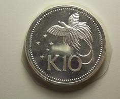 Papua New Guinea 10 Kina 1975 Silver Proof - Papouasie-Nouvelle-Guinée