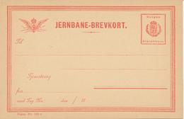 JERNBANE / Norge - BREVKORT  , Privatpost - Postal Stationery
