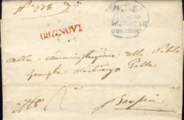 1834-prefilatelica Con Testo Annullo Rosso Di Orzinovi Brescia - ...-1850 Préphilatélie