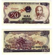 VIETNAM - 20 DONG - SPECIMEN - UNC BANK NOTE - 1985 - BILLET NEUF - Viêt-Nam
