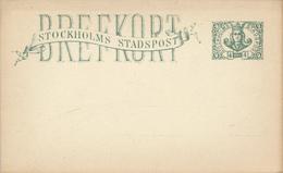 STOCKHOLMS STADSPOST  -  BREFKORT , Local Post  -  Reply - Ganzsachen