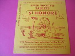 Buvard/Biscottes/St HONORE/Super Biscottes Sablées/Le Lion Et Le Rat/ VAUREAL/ Donville/Vers 1940-60  BUV415 - Zwieback