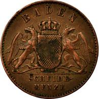 Monnaie, Etats Allemands, BADEN, Friedrich I, Kreuzer, 1869, TTB+, Cuivre - [ 1] …-1871 : Etats Allemands
