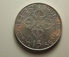 Bhutan 15 Ngultrums 1974 Silver - Bhoutan