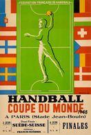 Travel Postcard Handball Coupe Du Monde Paris 1948 (v) - Reproduction - Pubblicitari