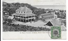 CPA PC British North Borneo Sandakan St. Mary's Convent 1909 Malaysia - Malaysia