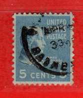 (Us2) USA °- 1938 - Série Courante, Présidents. J. Monroe. 5 C. Yvert 375.   USED.  Vedi Descrizione - Stati Uniti