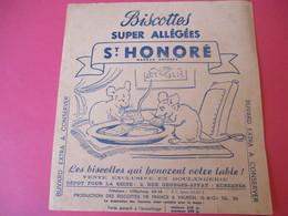Buvard/Biscottes/St HONORE/Super Biscottes Allégées/Le Lion Et Le Rat/ VAUREAL/Donville/Vers 1940-60  BUV416 - Zwieback