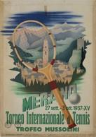 Italian Travel Postcard Merano Torneo Di Tennis Trofeo Mussolini 1937 (v) - Reproduction - Pubblicitari