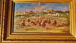 Mariano Marsal FORTUNY (1838 -1874) MAROC MOROCCO Fantasia Circa 1860 Huile Sur Toile. 30 X 55 Cm Env. /FREE SHIPPING R - Huiles