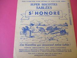 Buvard/Biscottes/St HONORE/Super Biscottes Sablées/Le Lièvre Et La Tortue/ VAUREAL/Donville/Vers 1940-60  BUV418 - Zwieback