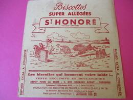 Buvard/Biscottes/St HONORE/Super Biscottes Sablées/Le Lièvre Et La Tortue/ VAUREAL/Donville/Vers 1940-60  BUV419 - Zwieback