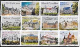 2012- Chateaux/ Demeures Historiques -YT 726 à 737(12val.)-OBL - France