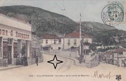 VILLEFRANCHE-sur-MER. Carrefour De La Route De BEAULIEU - (vers 1900). - Villefranche-sur-Mer