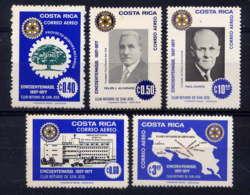 COSTA RICA - A670/674** - 50è ANNIVERSAIRE DU ROTARY DE SAN JOSE - Costa Rica