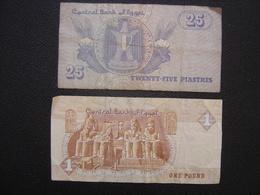 Billet EGYPTE CENTRAL BANK OF EGYPT 25 PIASTRES ONE POUND - Afrique Du Sud