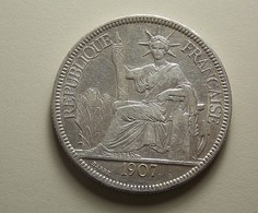 French Indo-China 1 Piastre 1907 A Silver - Colonies