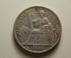 French Indo-China 50 Cents 1936 Silver - Colonies