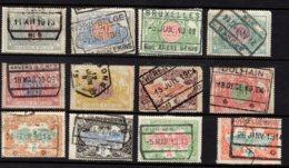 Belgium, 1902, Railway Stamps, Used - Bahnwesen